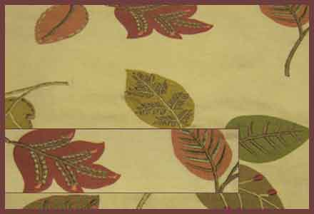 Emory Leaf embroidered fabric in the 'Orchard' color