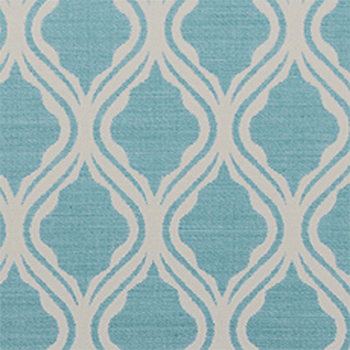 Trellis pattern in the 'pool' color from Duralee Fabrics