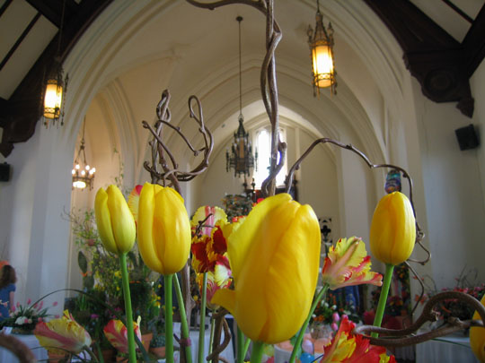 The 7th Annual Tulip Exhibition -- at the entry of the Tower Chapel