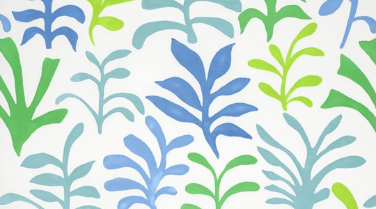 Schumacher's Matisse-inspired print fabric in the 'Ocean' color