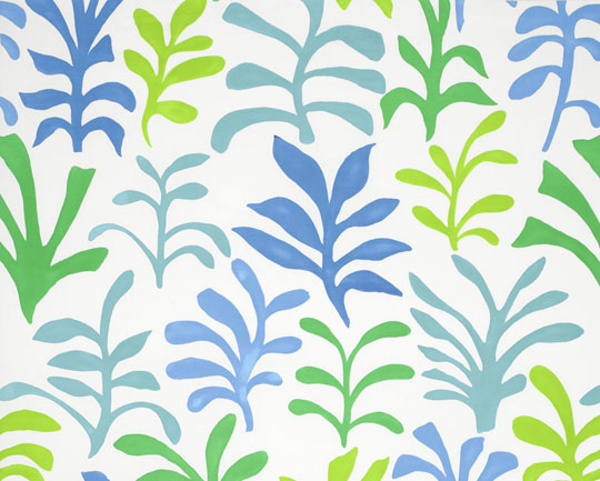 Schumacher's Matisse-inspired print fabric in the 'Ocean' color