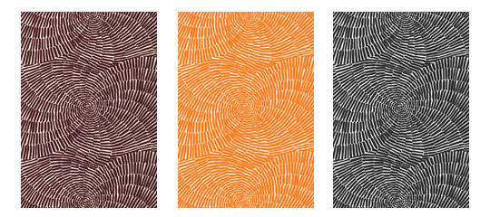 Trina Turks' Sonriza fabric in the 3 other colors available, 'Java,'  'Orange' and 'Black.'