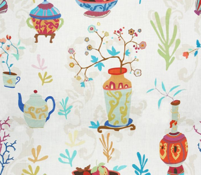 The 'Teablossom'  print in the 'Festival' color