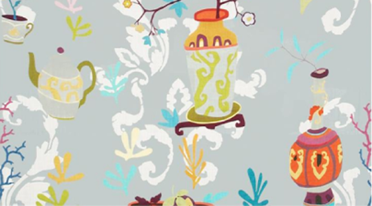 Kravet's 'Teablossom'  fabric in the 'Yangtze' color