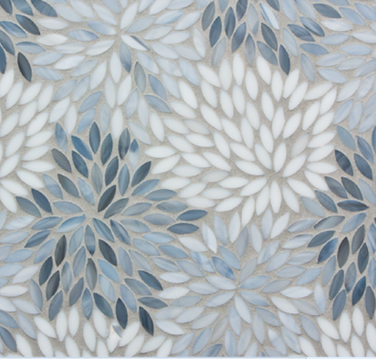 The 'Estrella'mosaic tile in the 'Grey' colorway from Artistic Tile