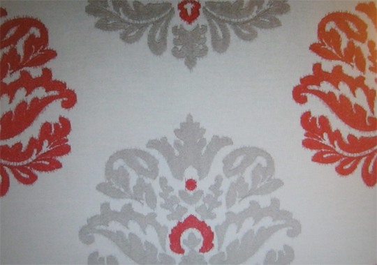 Amara fabric in the 'Red' color at Cowtan & Tout